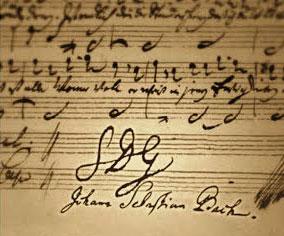 """Komponisten Johann Sebastian Bach signerede sine værker med bogstaverne SDG: """"Soli Deo Gloria"""", som betyder: Gud alene skal have æren."""