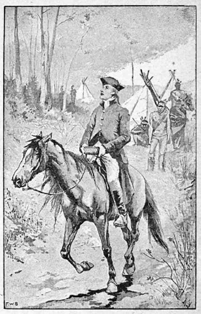 David Brainerd (1718-1747) rejste som missionær mere end 4.800 km på hesteryg.